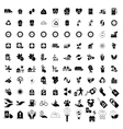 100 Eco icons set vector image