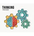Thinking process modern business concept design vector image