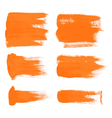 orange brush strokes the perfect backdrop vector image vector image
