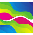 abstract rainbow colors wave vector image