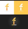 letter F logo design icon set background vector image