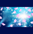 multicolored flying petals spring effect realistic vector image