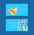 pharmacy store business card template vector image