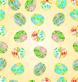 Seamless texture Easter eggs floral pattern vector image