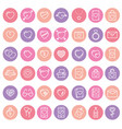 set of 42 simple icons with heart vector image