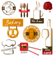 food and drink logos vector image vector image