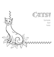 Funny cat background vector image vector image