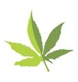 Marijuana leaf icon flat style vector image