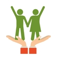 Cute couple relationship vector image