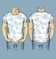 blue t-shirts templates vector image