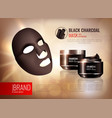 charcoal face mask poster vector image