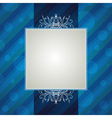 blue striped background with decorative ornaments vector image