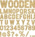 wooden type vector image