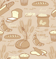 bread seamless background vector image