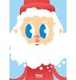 Santa Claus face close-up Greeting card for vector image