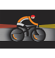 Bicycle safety in the dark vector image
