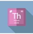 Chemical element Thorium Flat vector image vector image