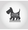 Dog beauty and grooming salon logo vector image