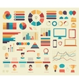 Big set of business flat design infographics vector image