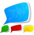 Color grunge speech label designs vector image