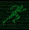 concept of data transfer speed runner silhouette vector image