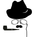 detective retro accessories vector image