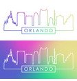 orlando skyline colorful linear style vector image