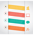 Set of colored rectangle infographic vector image