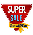 super sale label or sticker vector image