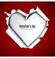 Torn paper with space for text White heart vector image