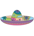 Sombrero colorful vector image vector image