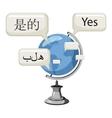 World translation icon cartoon style vector image