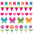 summer decoration set vector image vector image