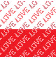 seamless pattern with word love in hand drawn vector image vector image