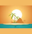 idyllic island poster vector image