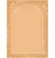 arch frame with grunge pattern vector image vector image