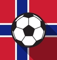 football icon with Norway flag vector image