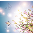 Bright spring background vector image