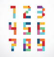 Alphabet blocks style set vector image vector image