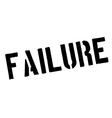 Failure black rubber stamp on white vector image