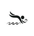 Beach Volleyball Icon monochrome vector image