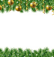 Golden Fir Tree Frame vector image