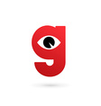 Letter G eye logo icon design template elements vector image