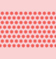 pattern from abstract red flower vector image