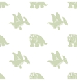 seamless pattern of cartoon Dinosaur vector image
