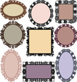 Set of different framesvintage frames vector image