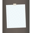 Blank squared paper from a notepad vector image