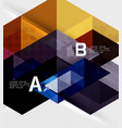 triangle geometric infographic banner vector image