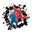 thai boxing action muay thai graphic vector image