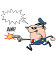 Cartoon police officer vector image